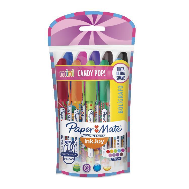 BOLIGRAFO PAPER MATE CANDY POP 100 ST MINI BL X10