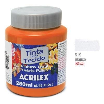 PINTURA PARA TELA ACRILEX 250ML. BLANCO