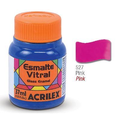 PINTURA ACRILEX VITRAL ESMALTE 627 PINK 37CC