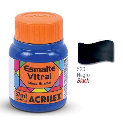 PINTURA ACRILEX VITRAL ESMALTE 620 NEGRO 37CC