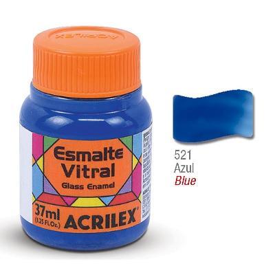 PINTURA ACRILEX VITRAL ESMALTE 621 AZUL 37CC