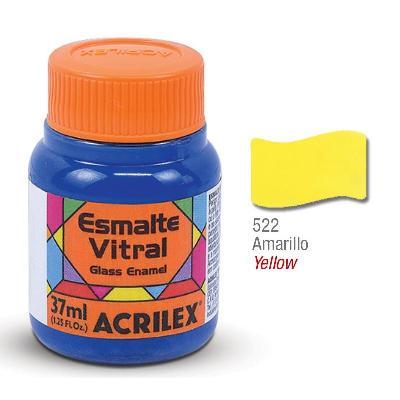 PINTURA ACRILEX VITRAL ESMALTE 622 AMARILLO 37CC