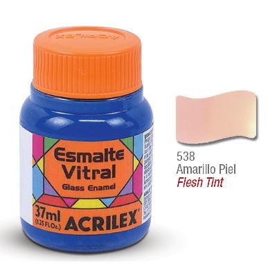 PINTURA ACRILEX VITRAL ESMALTE 638 AMARILLO PIEL 37CC