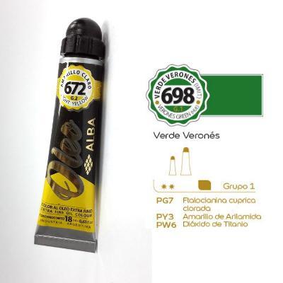 PINTURA OLEO ALBA G1-B 18ML 698 VERDE VERONES
