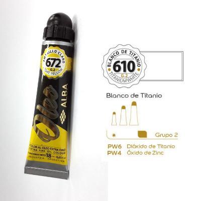 PINTURA OLEO ALBA G2-C 18ML 610 BLANCO TITANIO