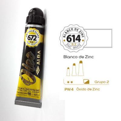 PINTURA OLEO ALBA G2-C 18ML 614 BLANCO DE ZINC