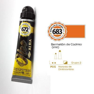 PINTURA OLEO ALBA G2-C 18ML 683 BERMELLON