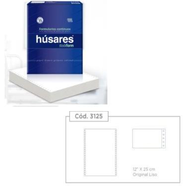 PAPEL FORMULARIO CONTINUO HUSARES 12x25x1000 HOJAS 65GRS