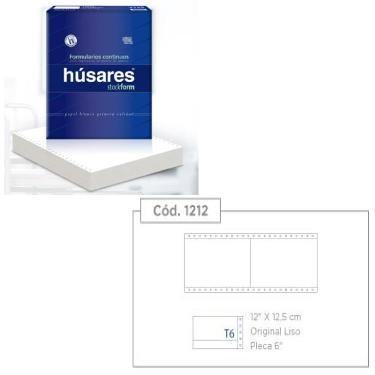 "PAPEL FORMULARIO CONTINUO PLECA 6"" HUSARES 12X12,5 X 500 HOJAS"
