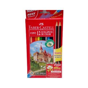 LAPIZ FABER CASTELL X 12 LARGOS + 2 GRAFITOS