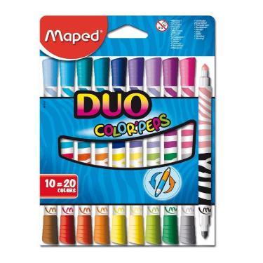 MARCADOR MAPED COLOR PEP´S DUO x 10 (20 colores)
