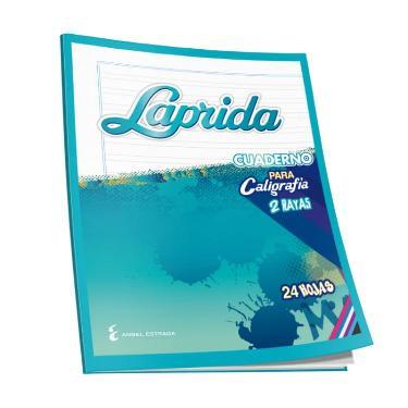 CUADERNO TAPA FLEXIBLE LAPRIDA PARA CALIGRAFIA 2 LINEAS.24 HOJAS