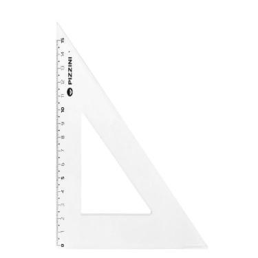ESCUADRA PIZZINI CRISTAL ESCOLAR 15cm x 60º