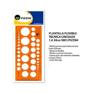 PLANTILLA PIZZINI CIRCULOS 5801
