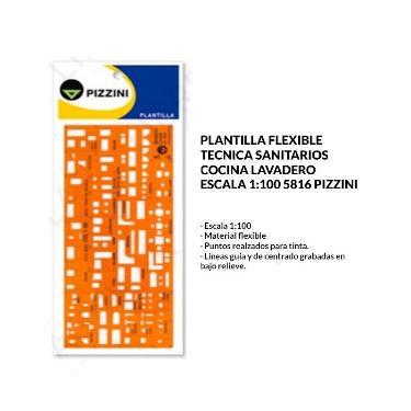 PLANTILLA PIZZINI SANITARIO, COCINA Y LAVADERO 5816