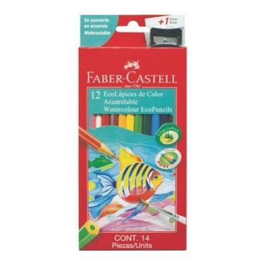 LAPIZ FABER CASTELL ACUARELABLE CARTON x 12 + SACAPUNTAS