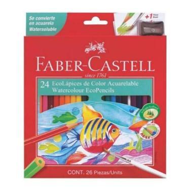 LAPIZ FABER CASTELL ACUARELABLE CARTON x 24 + SACAPUNTAS