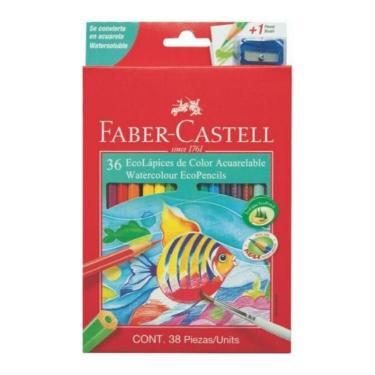 LAPIZ FABER CASTELL ACUARELABLE CARTON x 36 + SACAPUNTAS