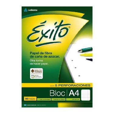 BLOCK EXITO A4 x 80 HOJAS CUADRICULADO