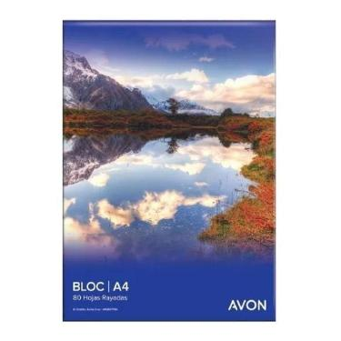 BLOCK AVON A4 80 HOJAS RAYADO