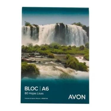 BLOCK AVON A6 80 HOJAS LISO