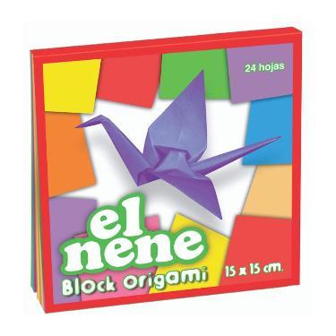 BLOCK EL NENE 15x15 cm ORIGAMI 24 HOJAS