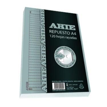 REPUESTO ARTE A4 120 HOJAS RAYADAS