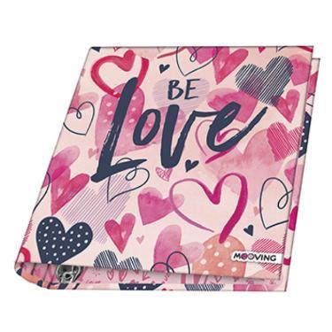 CARPETA 3 ANILLOS MOOVING 2021 DISEÑO LOVE & PEACE