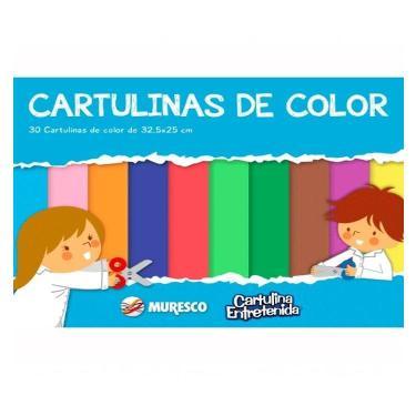 CARTULINA MURESCO ENTRETENIDA COLORES BLOCK 30 HOJAS