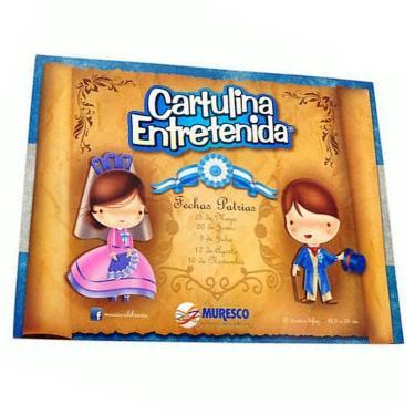 CARTULINA MURESCO ENTRETENIDA FECHAS PATRIAS BLOCK 20 HOJAS