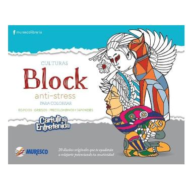 CARTULINA MURESCO ENTRETENIDA ANTI STRESS BLOCK 20 HOJAS
