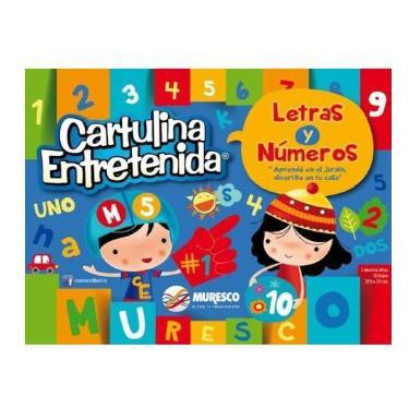 CARTULINA MURESCO ENTRETENIDA NUMEROS Y LETRAS BLOCK 20 HOJAS