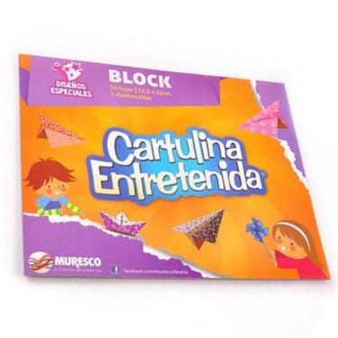 CARTULINA MURESCO ENTRETENIDA DISEÑOS ESPECIALES BLOCK 20 HOJAS