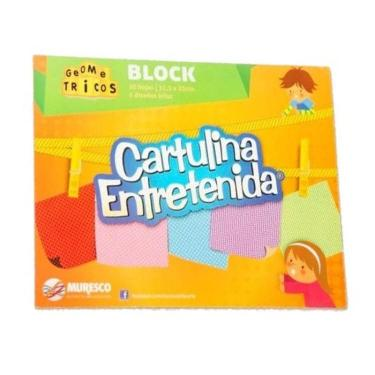 CARTULINA MURESCO ENTRETENIDA GEOMETRICO BLOCK 20 HOJAS