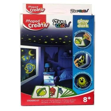 SET MAPED CREATIV STICK & COLORS EVENTS GLOW IN THE DARK
