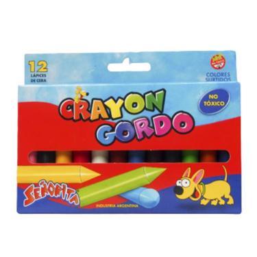LAPIZ CRAYON SEÑORITA X 12 GORDO