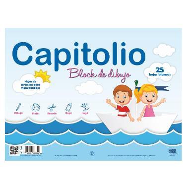 BLOCK CAPITOLIO N°5 BLANCO 25 HOJAS