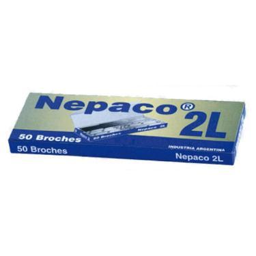 BROCHE NEPACO METALICO N°2 L X 50 UNIDADES