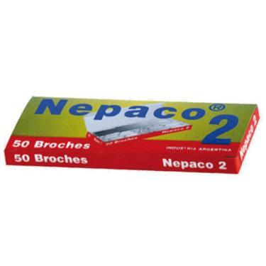 BROCHE NEPACO METALICO N°2 X 50 UNIDADES