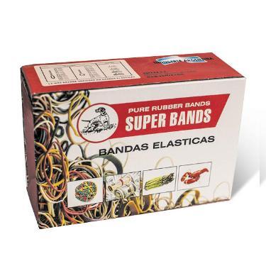 BANDAS ELASTICAS SUPER BANDS X 500 GR.SOAFRA
