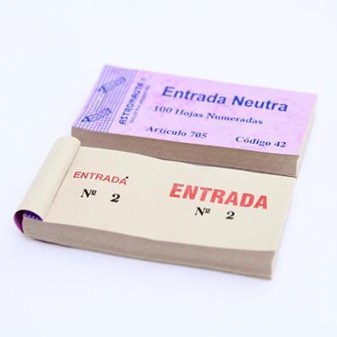 TALONARIO ENTRADA GENERAL NEUTRA
