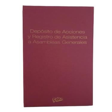 LIBRO RAB DEPOSITO DE ACCIONES Y REGISTRO DE ASISTENCIA 2313