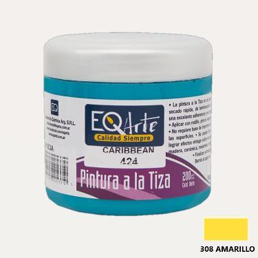 PINTURA A LA TIZA EQARTE 308 AMARILLO 200 CC