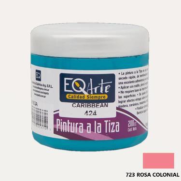 PINTURA A LA TIZA EQARTE 723 ROSA COLONIAL 200 CC