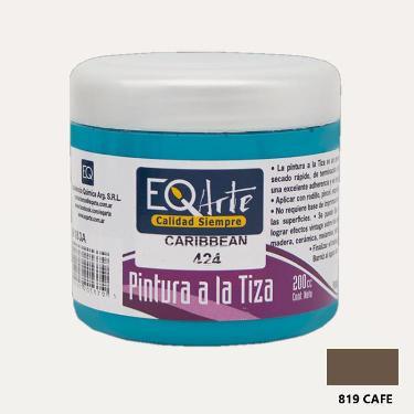 PINTURA A LA TIZA EQARTE 819 CAFE 200 CC