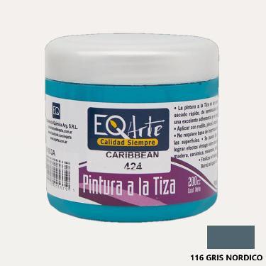 PINTURA A LA TIZA EQARTE 116 GRIS NORDICO 200 CC