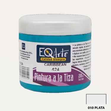 PINTURA A LA TIZA EQARTE 010 PLATA 200 CC ART.3800-010-200