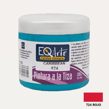 PINTURA A LA TIZA EQARTE 724 ROJO 200 CC