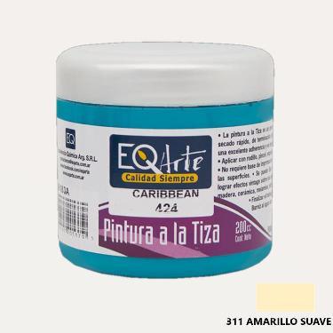 PINTURA A LA TIZA EQARTE 311 AMARILLO SUAVE 200 CC