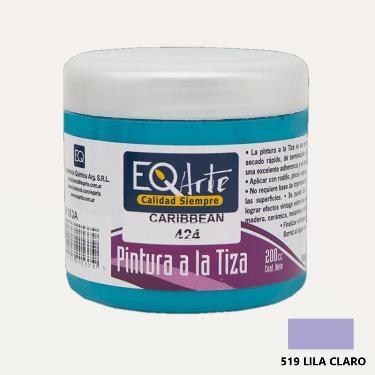 PINTURA A LA TIZA EQARTE 519 LILA CLARO 200 CC